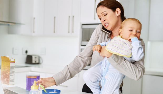 ranní shon matky s dítětem